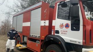 Пожар горя във вилна зона край село Кортен
