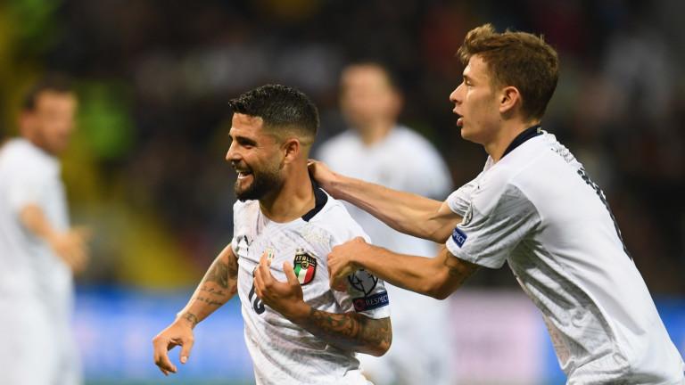Националният отбор на Италия продължава с пълната си доминация в