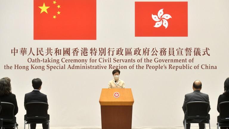 Лидерът на Хонконг обвини Запада в лицемерие