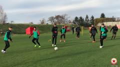 ЦСКА тренира без новото си попълнение