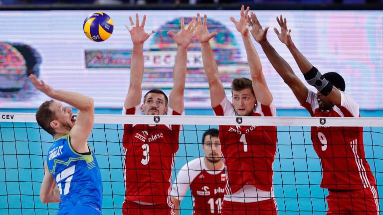 Волейболният национален тим на Словения продължава с феноменалното си представяне