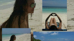 Глория се пече на Малдивите