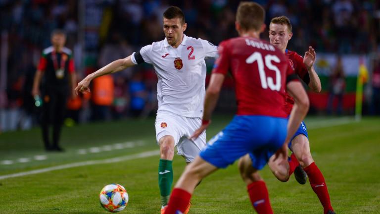 Чехия - България 2:1 (Развой на срещата по минути)
