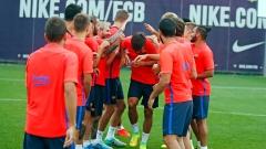 Трети Суарес започна тренировки с Барселона