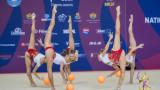 Ансамбълът на България спечели златен медал на 5 топки, а Боряна Калейн взе бронз на топка на СК в Баку