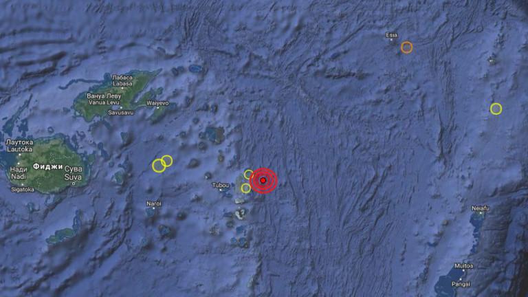 Земетресение от 5.7 по Рихтер до Фиджи
