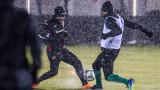 В дъжд и сняг: Националите с последна тренировка преди решаващия двубой със Словения