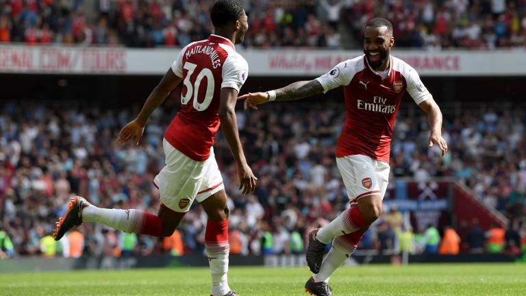 Арсенал се добра до минимална победа срещу Уест Хем