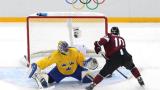 Латвия на 1/4 финал по хокей на лед