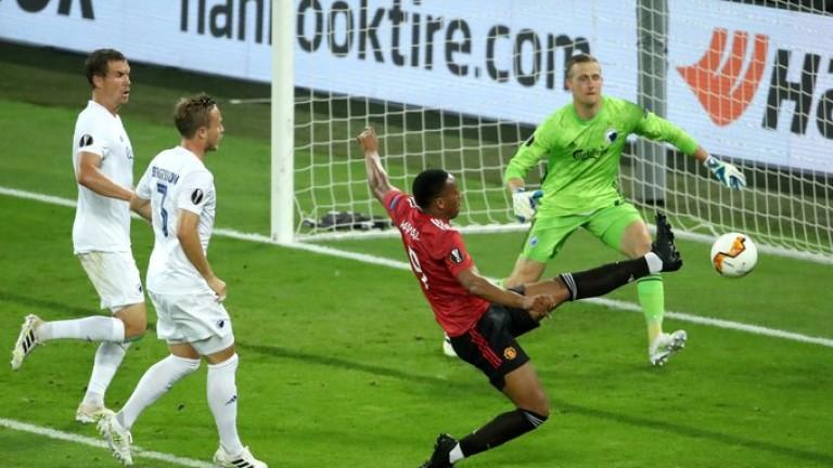 Манчестър Юнайтедпобеди Копенхаген с минималното 1:0 в мач от четвъртфиналите