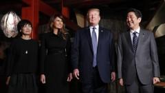 Тръмп иска по-свободна търговия с Япония, Абе настоява за натиск над КНДР