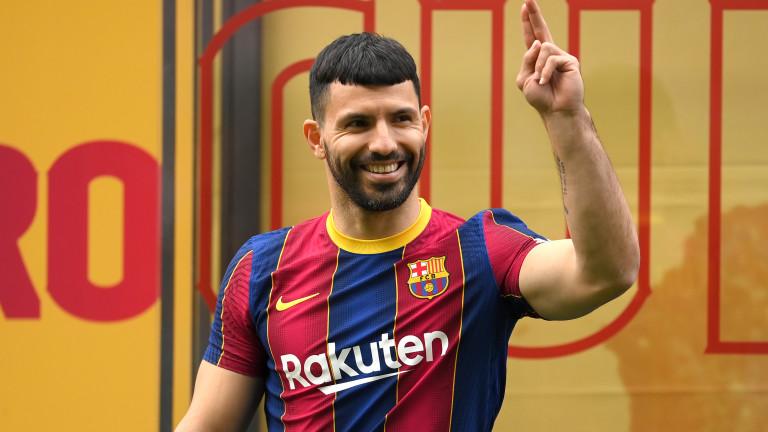 Серхио Агуеро вече тренира с Барселона