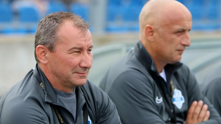 Треньорът на Арда (Кърджали) Стамен Белчев говори пред