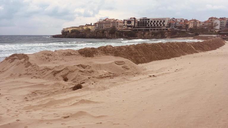 Разпоредиха да се прекрати изземването на пясък от плажа в Созопол