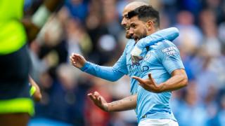 Серхио Агуеро на линия за Манчестър Сити срещу Хофенхайм