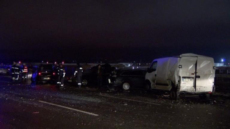 Верижна катастрофа и в София – 6 коли се удариха
