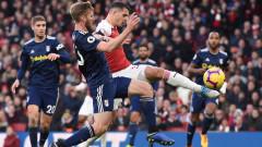 Лондонско дерби: Арсенал - Фулъм, 4:1 (Развой на срещата по минути)