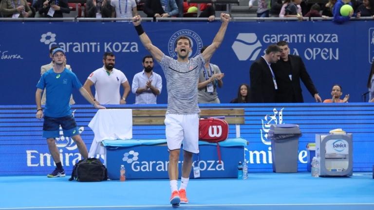 Григор Димитров победи Истомин в Ротердам, отива на четвъртфинал
