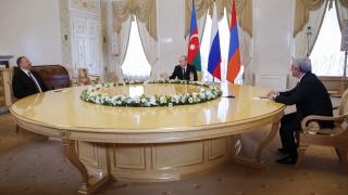 Путин събра президентите на Армения и Азербайджан в Кремъл заради Нагорни Карабах
