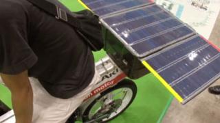 Слънчева енергия задвижва велосипед