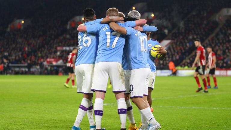 Манчестър Сити е втори във Висшата лига, ще играе на