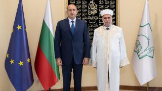 Президентът и главният мюфтия се похвалиха за религиозната толератност у нас