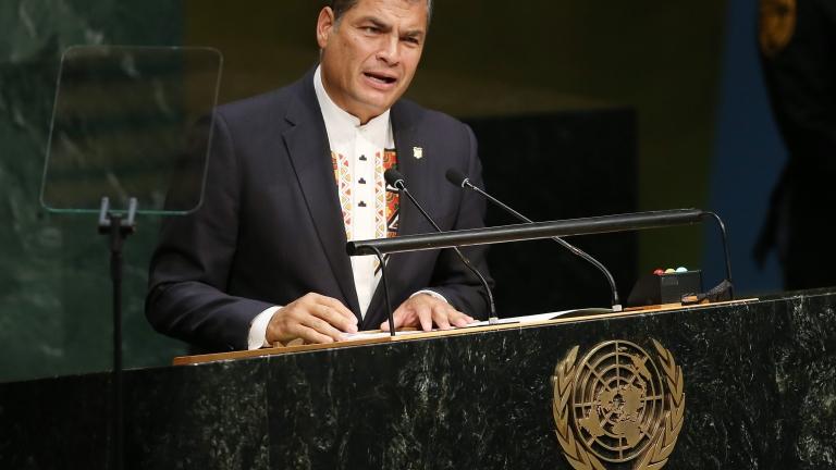 Бившият президент на Еквадор Рафаел Кореа беше осъден задочно на