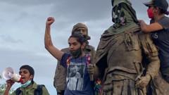 Простреляха мъж в Албакърки, опитал да бутне статуя на конкистадор от 16 век