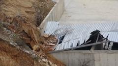 Скали се срутиха върху депото за отпадъци край Благоевград