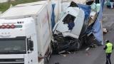 """Катастрофа между два тира затвори част от магистрала """"Тракия"""""""