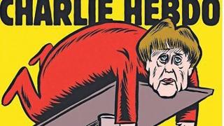 """""""Шарли ебдо"""" безжалостни към Меркел в първия си брой на немски"""
