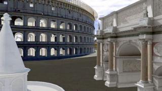 """Древен Рим """"оживя"""" в 3D симулация"""