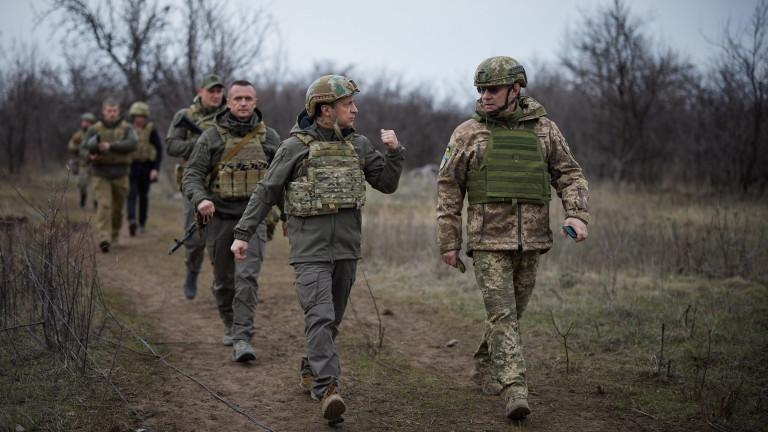 Седем убити войници на Украйна в Донбас за две седмици