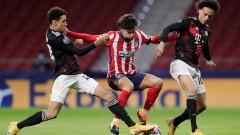 Атлетико (Мадрид) - Байерн (Мюнхен) 1:1 (Развой на срещата по минути)