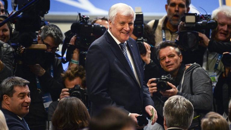 Хорст Зеехофер е преизбран за лидер на германския Християнсоциален съюз,