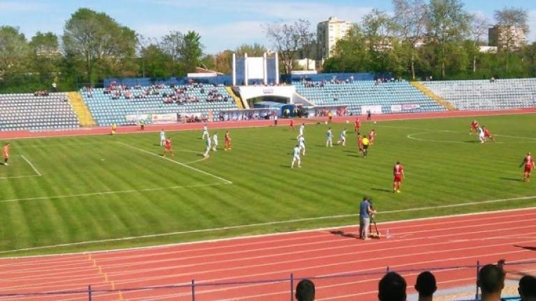 Пожар на стадиона в Русе, няма пострадали