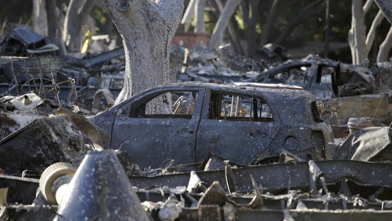 Жертвите от огнения ад в Калифорния са 74 души, съобщи