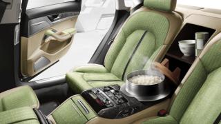 Audi представи новата версия на A8, в която може да се готви
