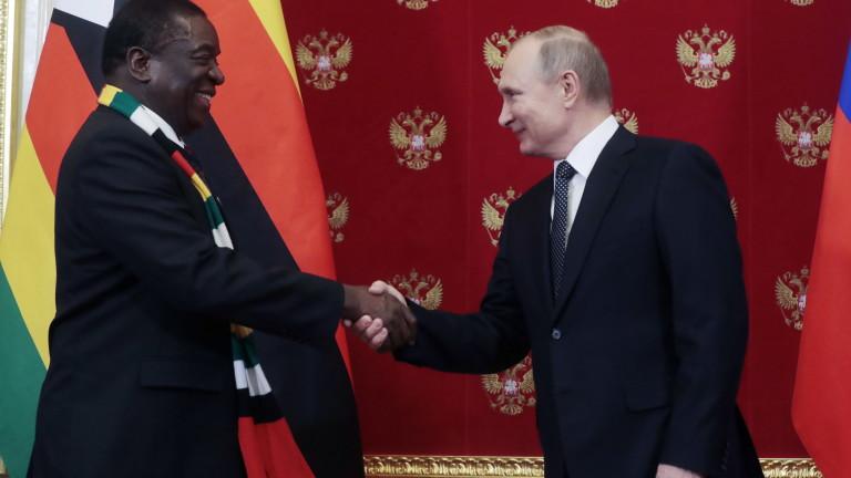 Президентът на Зимбабве Емерсон Мнангагва благодари на руския президент Владимир