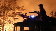 С насрещен огън спират пожара край Българска поляна