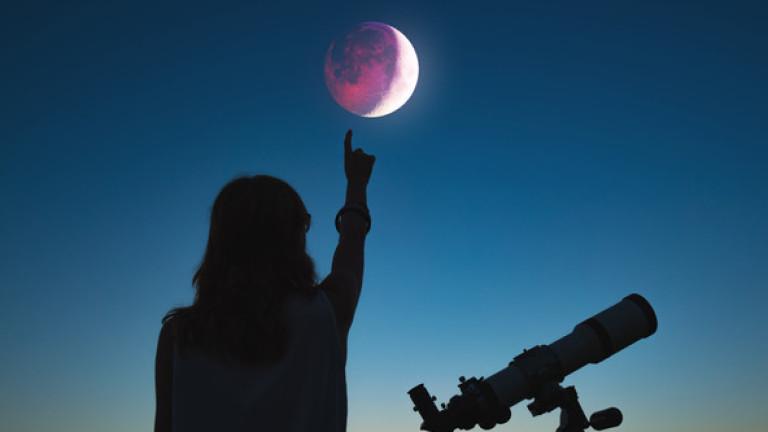 Довечера ни очаква пълно лунно затъмнение