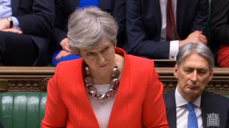 Брекзит е изгубен, ако не подкрепите споразумението, обяви Тереза Мей в парламента