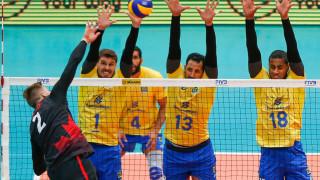 Бразилия не остави шанс на Канада в първия мач от финалите на Световната лига