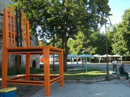 Гигантски стол в Разград - кандидат за Гинес