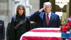 Без критики срещу Тръмп на погребението на Джордж Буш-старши
