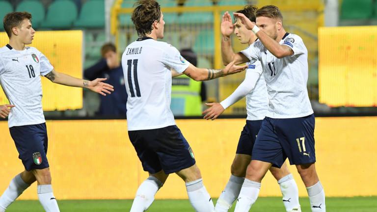 Италия завърши европейските квалификации със страхотна победа. Тимът на Роберто