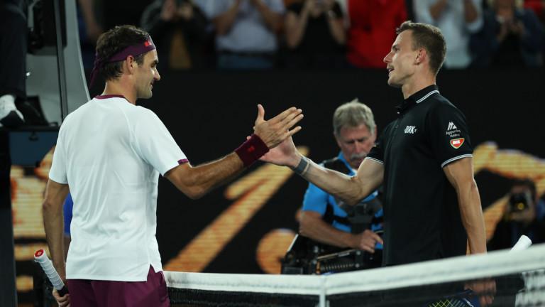 Шесткратният първенец в Мелбърн Роджър Федерер се класира на 1/4-финалите