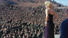 Меденият месец на Мерлин Монро с 45-та американска дивизия