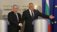 Борисов настоява и пред Таяни ЕС да се намеси в решаването на ситуацията в Сирия