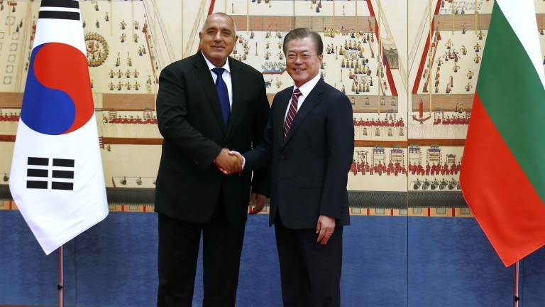 Регионалната обстановка и двустранното сътрудничество обсъдиха Борисов и Мун Дже-ин